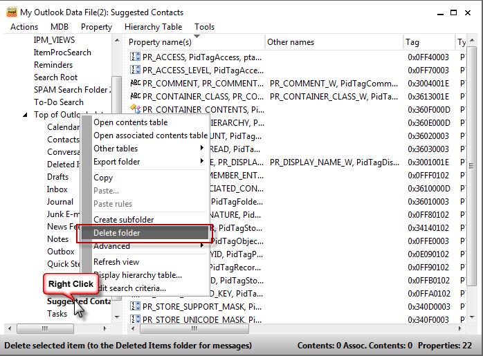How to Hide or Delete Outlook's Default Folders