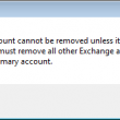 Primary account warning dialog