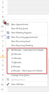 Right click on the time scale to choose a new interval