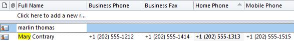 Outlook's default format