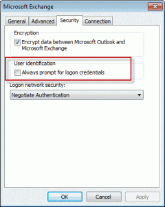 Change the 'always prompt' setting