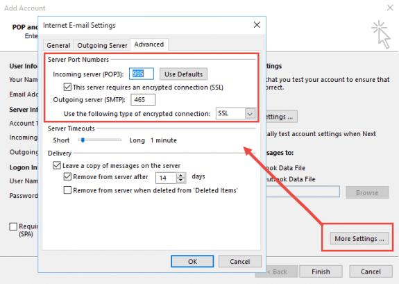 change the port settings