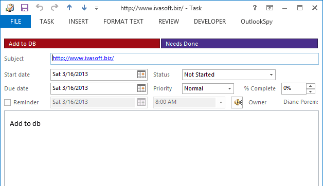 Outlook VBA: Work with Open Item or Selected Item