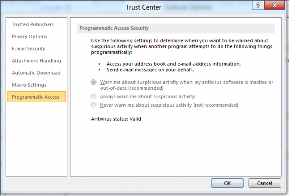 Programmatic Access options