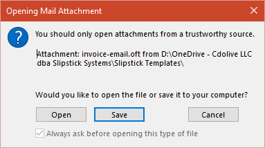 Disable the Unsafe Hyperlink Warning when Opening Attachments