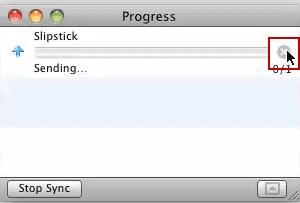 Outlook 2011's progress dialog