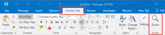Outlook2016 button button on compose