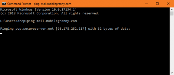 check the ip using command prompt