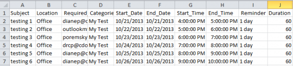 Add meeting details to a spreadsheet