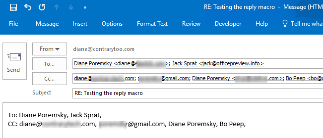 VBA Sample: Do Something When Reply is Clicked