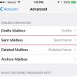 select icloud's sent folder