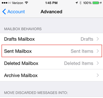 Syncing iPhone Sent Messages with Outlook
