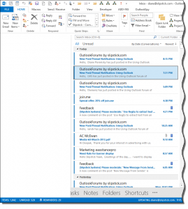 Outlook 2013 missing navigation pane