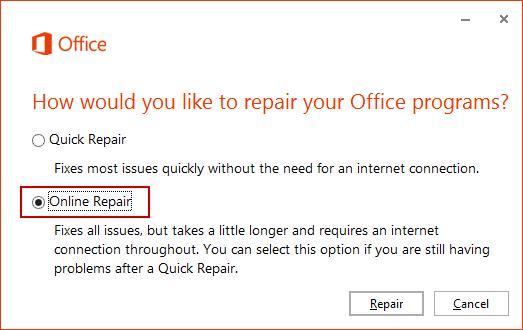 Choose Online Repair