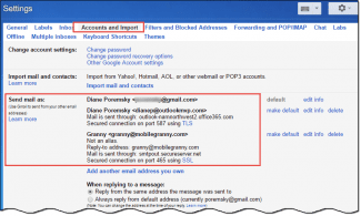 Gmail send mail as another account
