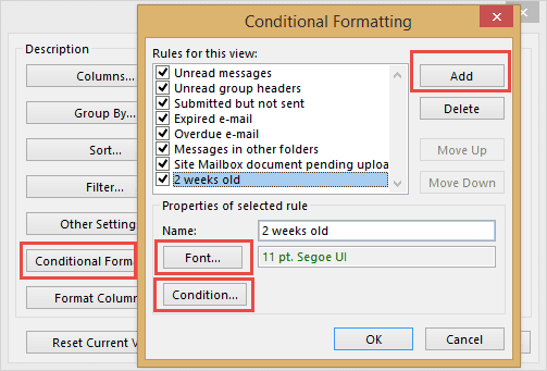 Create a conditional rule