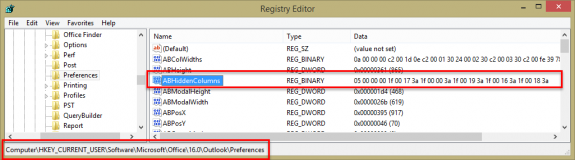 Edit the registry to hide fields in the GAL