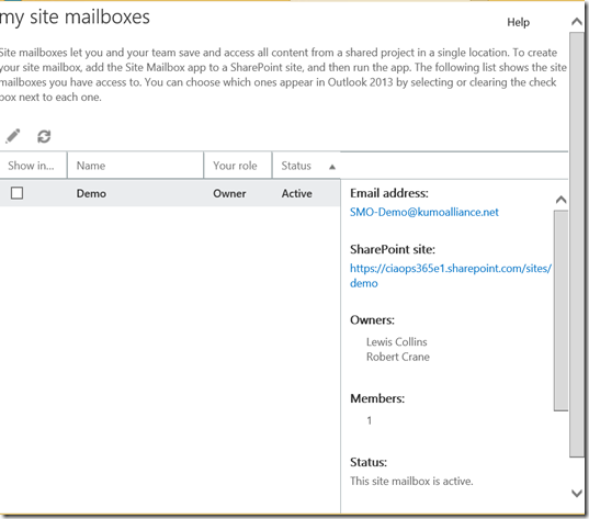 Manage All Site Mailboxes