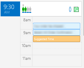 click the calendar icon to see nearby appointments