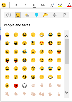 use emoji in email