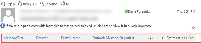 Office Outlook Add-ins