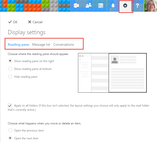 Disable Conversation View in Outlook com and Outlook on the Web