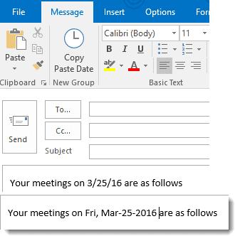 change the date macro
