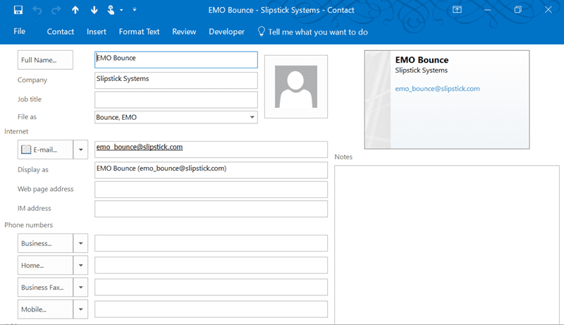 Scrollbars are Missing in Contacts