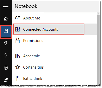 Connect the Office 365 account to Cortana