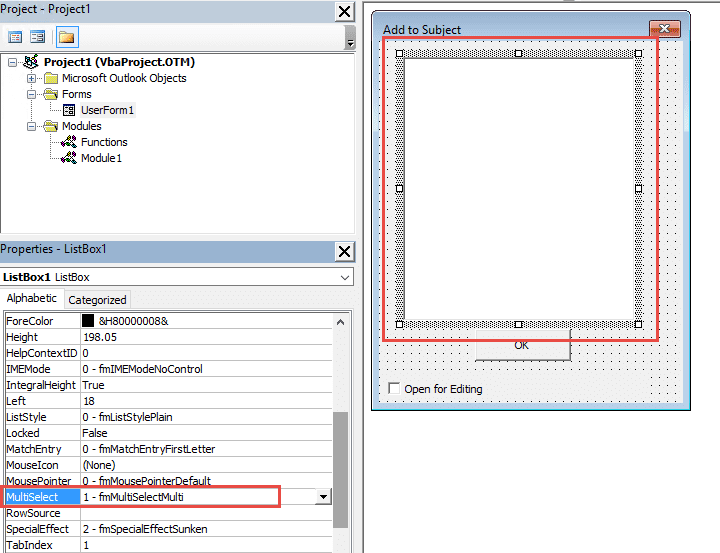 Outlook VBA: Use a Text File to Populate a ListBox