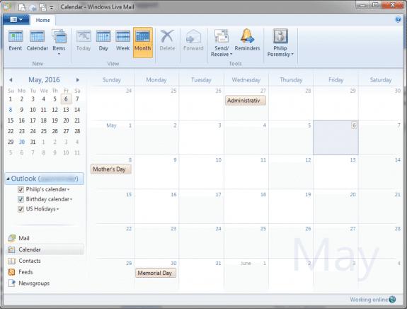 WLM Calendar