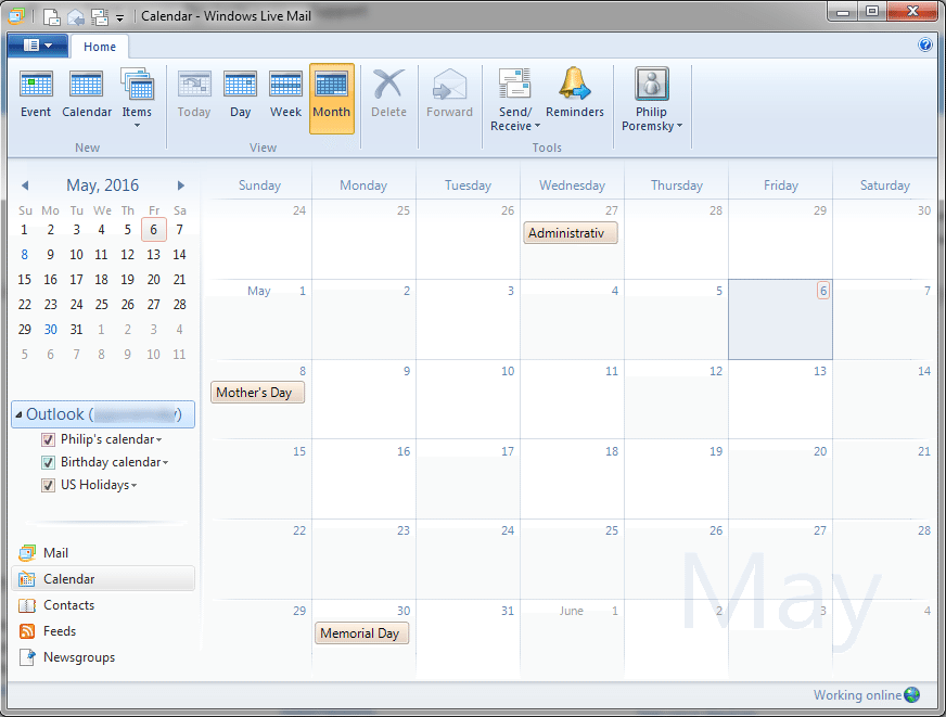 Live Mail 2012 and Outlook com