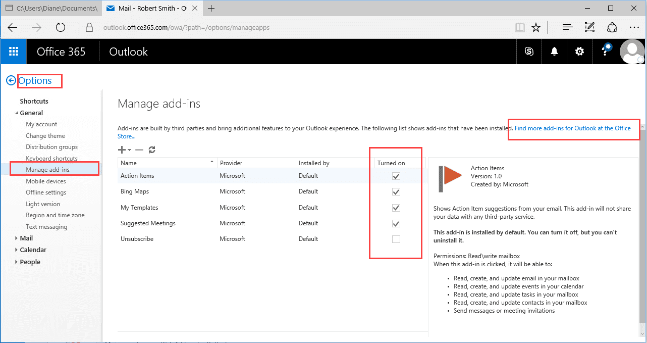 Disable Outlook Add-ins (Apps)