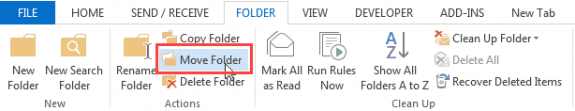 move folders to a new location