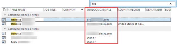 outlook data file name field