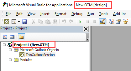 Active VBA project name