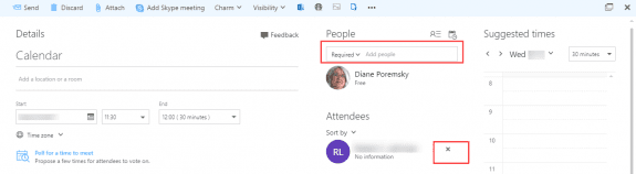 create meeting in outlook on the web