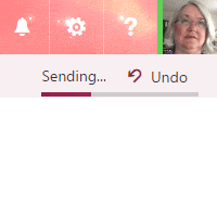 Undo Send feature in Outlook on the Web