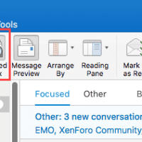 Focused Inbox in Outlook desktop