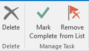 Tasks: Remove from List or Delete?