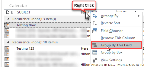 select a field to group by