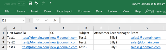 Use VBA to create a Mail Merge from Excel