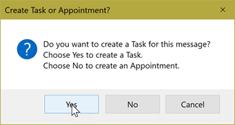 create a task or appointment