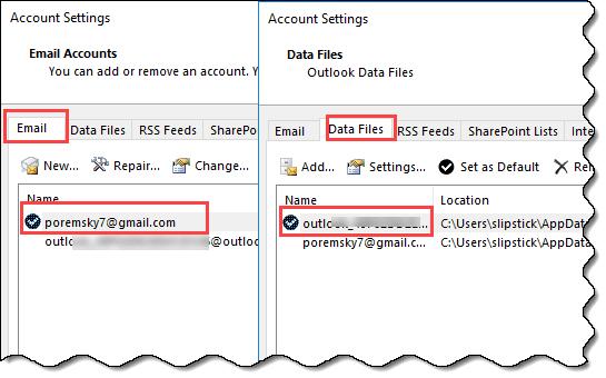 default data file