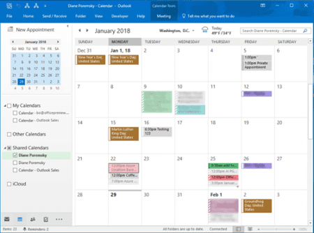 View Shared Calendar Category Colors