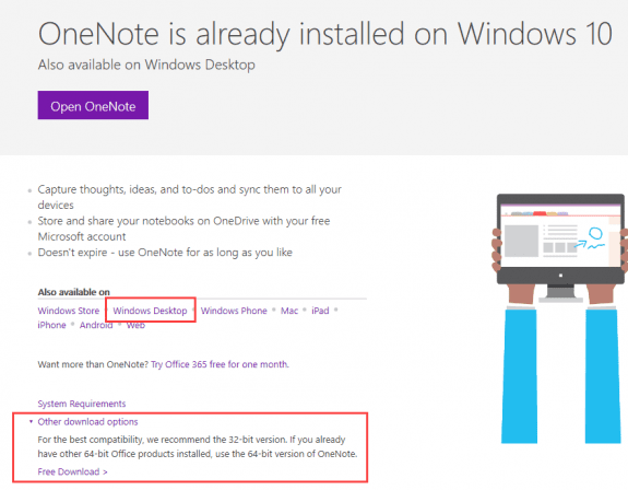 download onenote