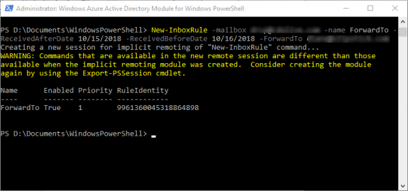 create a rule using PowerShell
