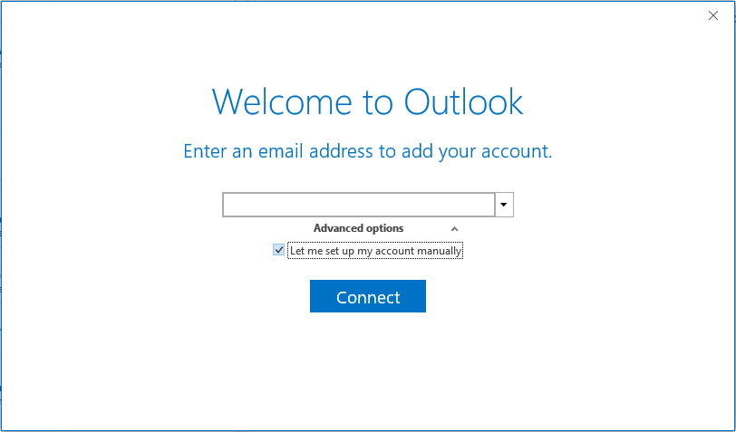 Outlook's New Account Setup Wizard