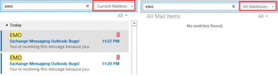 no search results for all mailbox scope