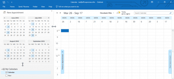select dates in the calendar